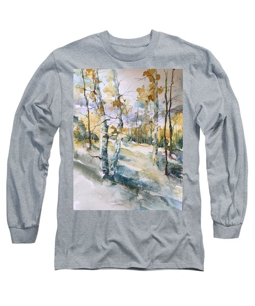 Colorado Aspens And Cottonwoods Long Sleeve T-Shirt by Robin Miller-Bookhout