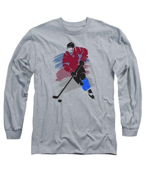 Colorado Avalanche Player Shirt Long Sleeve T-Shirt by Joe Hamilton