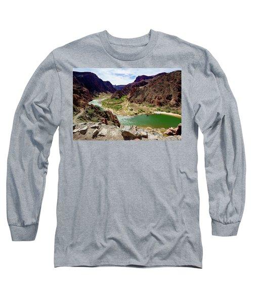 Colorado River Around Boat Beach Long Sleeve T-Shirt
