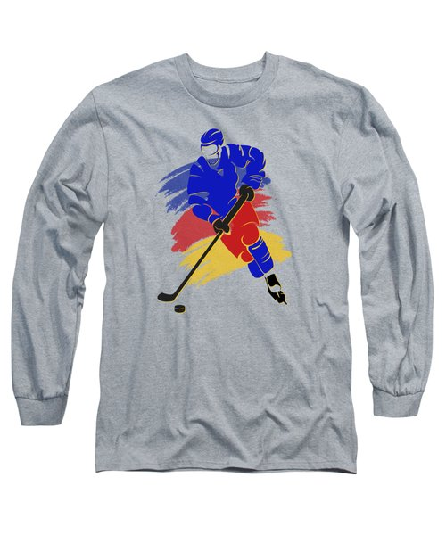 Colorado Rockies Player Shirt Long Sleeve T-Shirt by Joe Hamilton