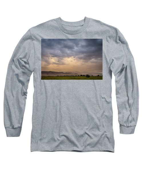 Long Sleeve T-Shirt featuring the photograph Colorado Rocky Mountain Foothills Storms by James BO Insogna