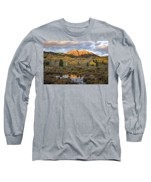 Long Sleeve T-Shirt featuring the photograph Colorado Sunrise by Phyllis Peterson