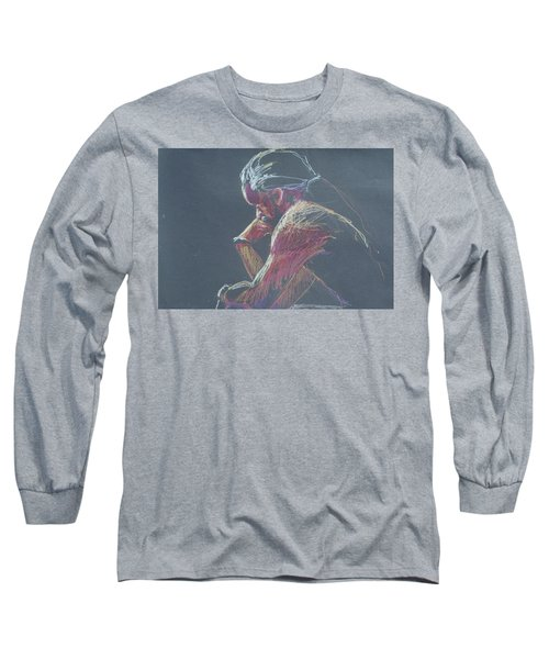 Colored Pencil Sketch Long Sleeve T-Shirt