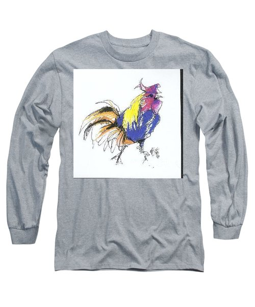 Colored Rooster Long Sleeve T-Shirt