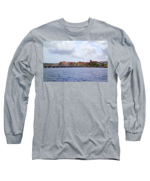 Colorful Curacao Long Sleeve T-Shirt by Lois Lepisto