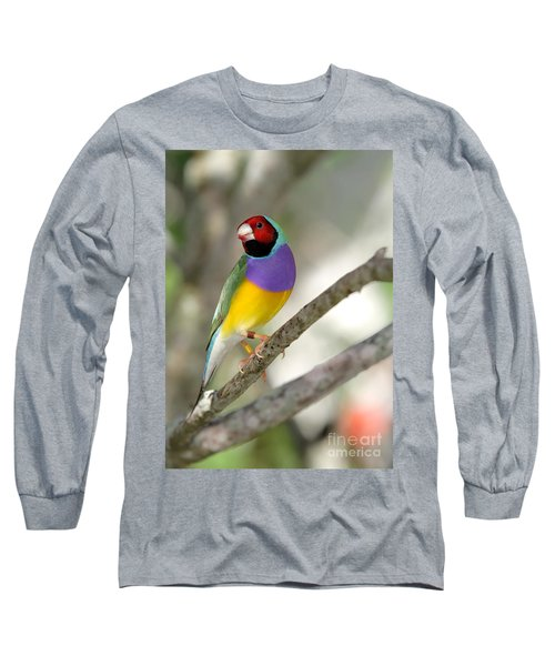 Colorful Gouldian Finch Long Sleeve T-Shirt