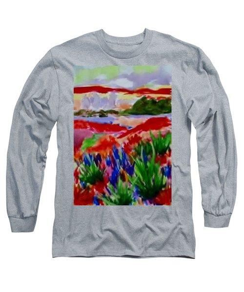 Long Sleeve T-Shirt featuring the painting Colorful by Jamie Frier