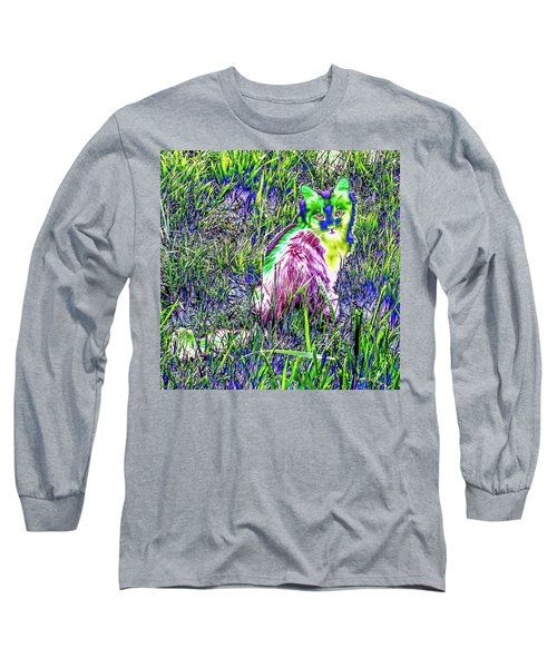 Colorful Kitty Long Sleeve T-Shirt