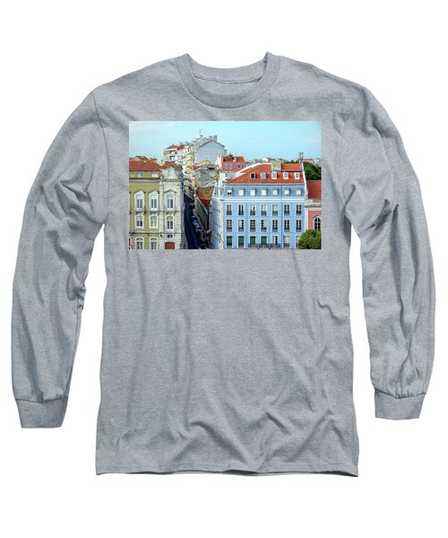Long Sleeve T-Shirt featuring the photograph Colorful Lisbon by Marion McCristall