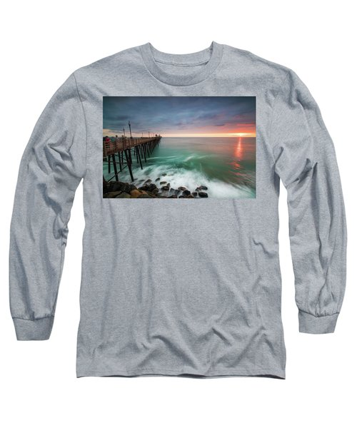 Colorful Sunset At The Oceanside Pier Long Sleeve T-Shirt