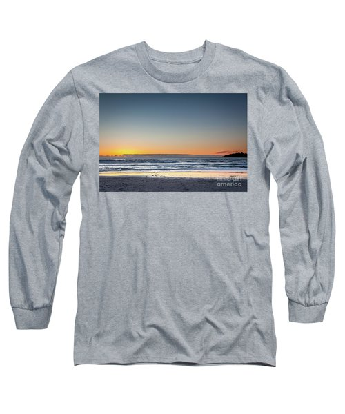 Colorful Sunset Over A Desserted Beach Long Sleeve T-Shirt