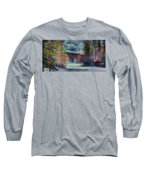 Long Sleeve T-Shirt featuring the photograph Colorful Winter Wonderland by David Patterson