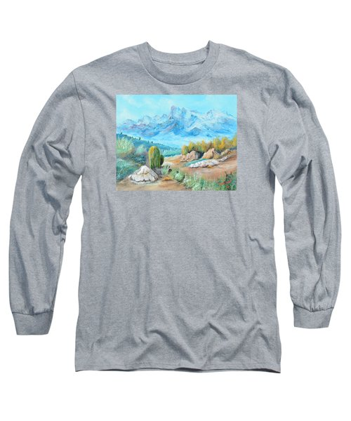 Colors In The High Desert Long Sleeve T-Shirt by Lloyd Dobson