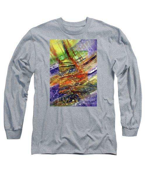 Colors Interrupting Long Sleeve T-Shirt by Allison Ashton