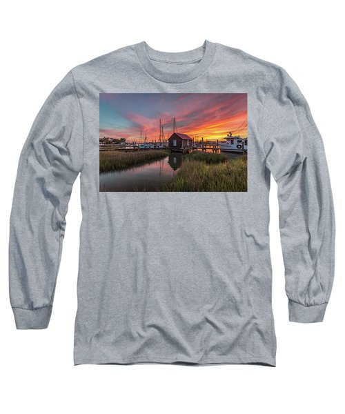 Colors Of Shem Creek - Mt. Pleasant Sc Long Sleeve T-Shirt