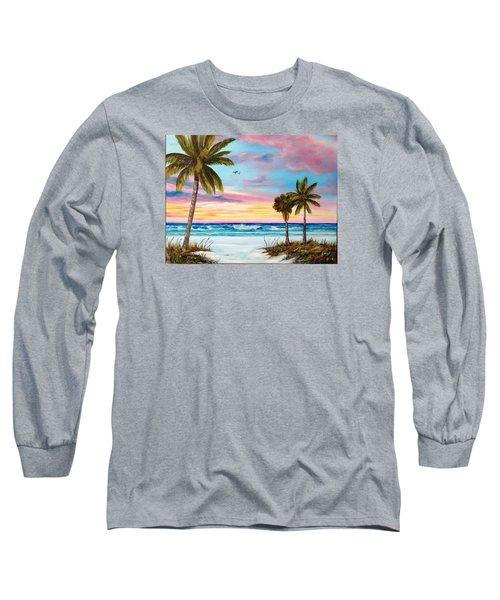 Colors Of Siesta Key Long Sleeve T-Shirt by Lloyd Dobson