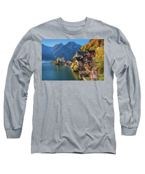 Colourful Hallstatt Long Sleeve T-Shirt by JR Photography