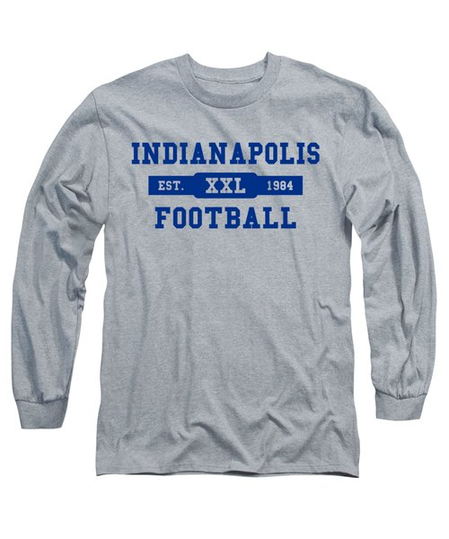 Colts Retro Shirt Long Sleeve T-Shirt by Joe Hamilton