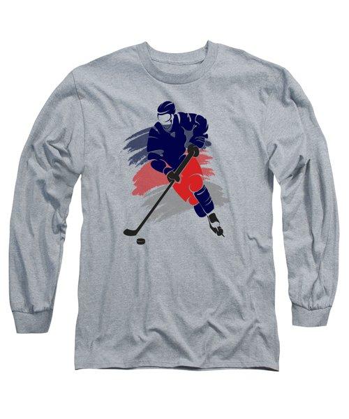Colubus Blue Jackets Player Shirt Long Sleeve T-Shirt by Joe Hamilton