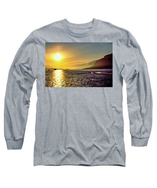 Columbia River 001 Long Sleeve T-Shirt by Scott McAllister