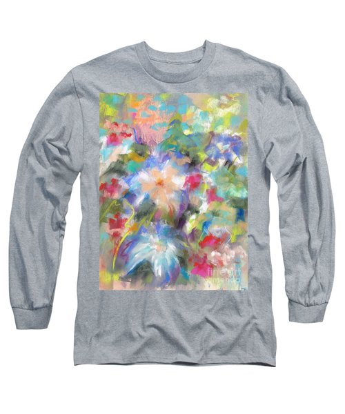 Long Sleeve T-Shirt featuring the painting Columbine In The Wildflowers by Frances Marino