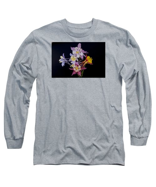 Long Sleeve T-Shirt featuring the photograph Columbine Medley by Gary Lengyel
