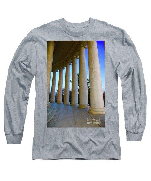Columns At Jefferson Long Sleeve T-Shirt by Megan Cohen