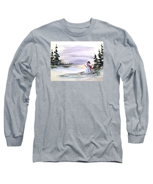 Long Sleeve T-Shirt featuring the painting Come And Play With Me by Dorothy Maier