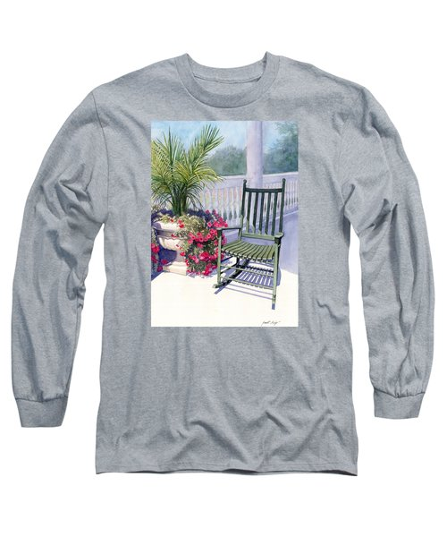 Long Sleeve T-Shirt featuring the painting Come Sit A Spell by Janet King