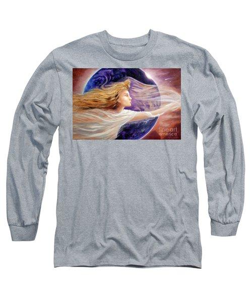 Comet Dreamer Voyage  Long Sleeve T-Shirt by Michael Rock