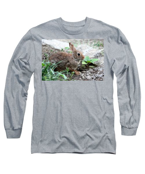 Long Sleeve T-Shirt featuring the photograph Coming Out Of Hiding by Sheila Brown
