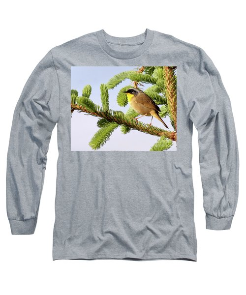Common Yellow-throat Long Sleeve T-Shirt by Debbie Stahre