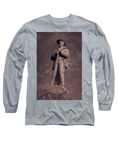 Confederate Statue  Standing Guard Long Sleeve T-Shirt