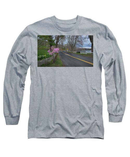 Long Sleeve T-Shirt featuring the photograph Connecticut Country Road by Bill Wakeley