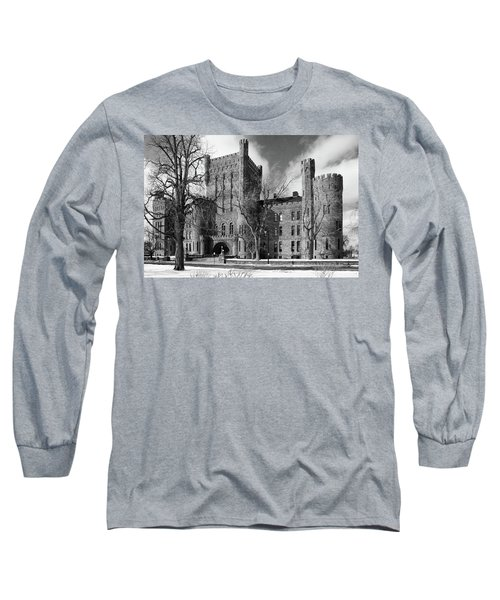 Long Sleeve T-Shirt featuring the photograph Connecticut Street Armory 3997b by Guy Whiteley