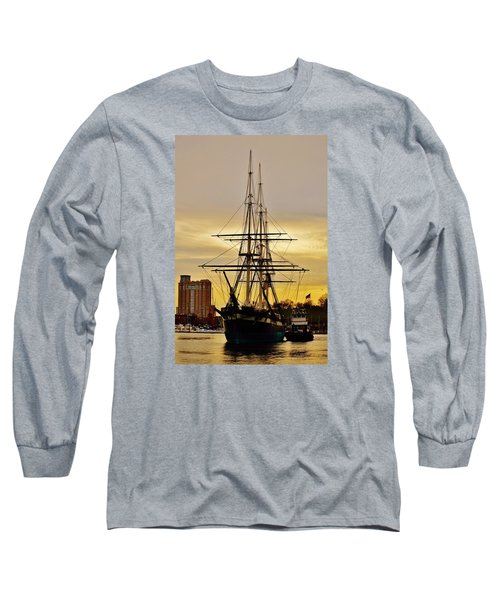 Constellation Gold Long Sleeve T-Shirt by William Bartholomew
