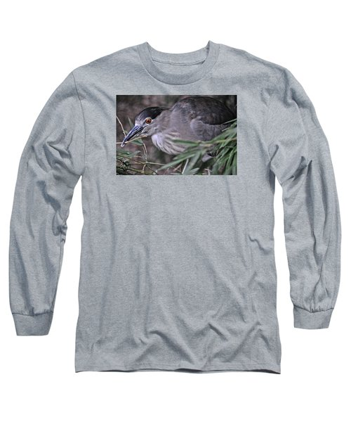Constructing A Nest Long Sleeve T-Shirt by Mike Martin