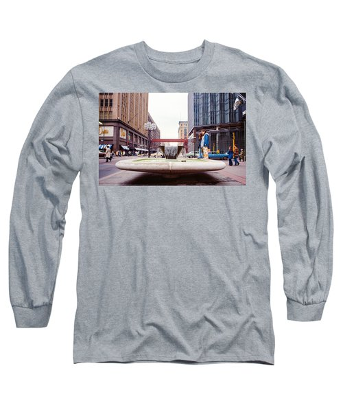 Contemplating The Fountain At 8th And Nicollet. Long Sleeve T-Shirt