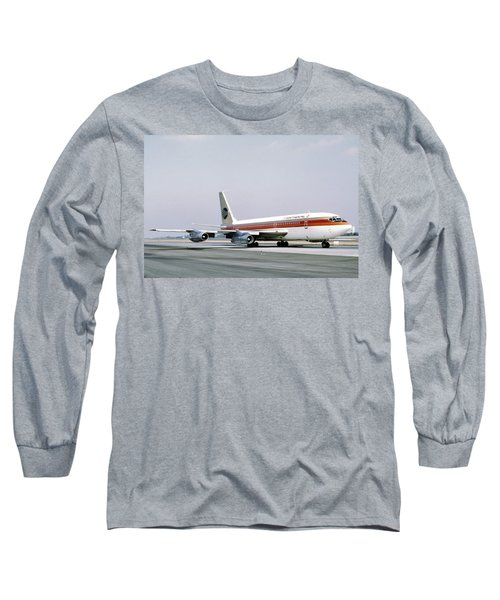 Continental Airlines 720-024b N17207 Los Angeles July 22 1972 Long Sleeve T-Shirt