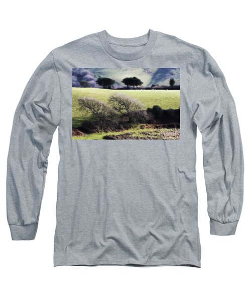 Contrast Of Trees Long Sleeve T-Shirt by Gary Bridger