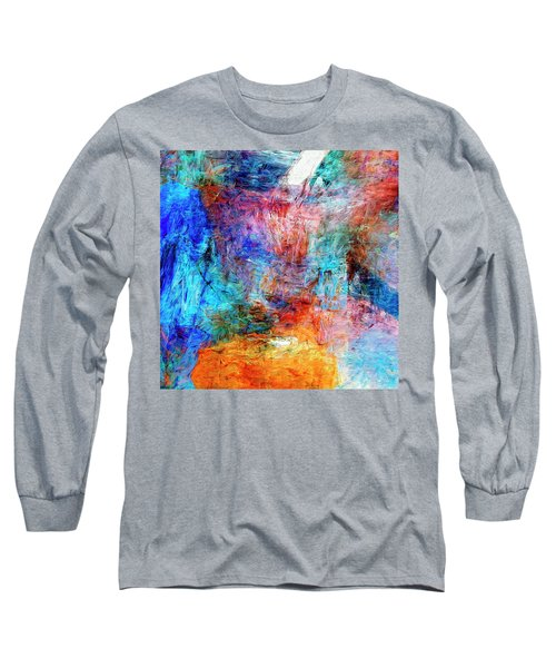 Long Sleeve T-Shirt featuring the painting Convergence by Dominic Piperata
