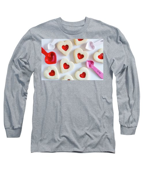 Long Sleeve T-Shirt featuring the photograph Cookie Baking Love by Teri Virbickis