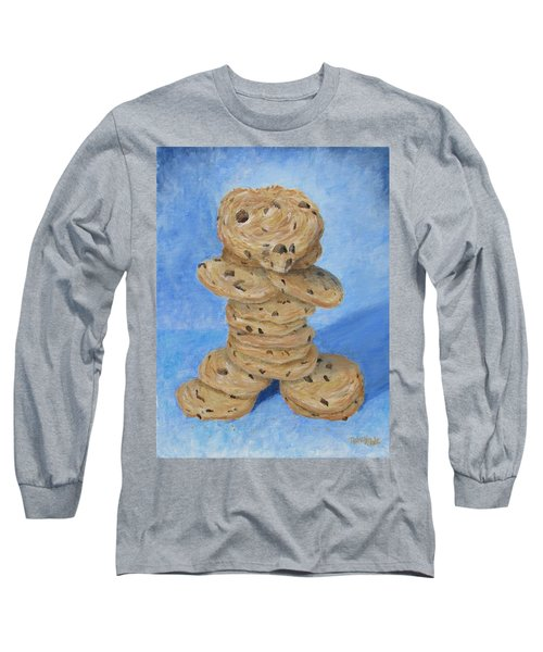 Long Sleeve T-Shirt featuring the painting Cookie Monster by Nancy Nale