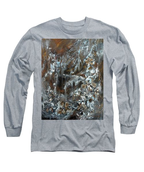 Copper And Mica Long Sleeve T-Shirt by Joanne Smoley