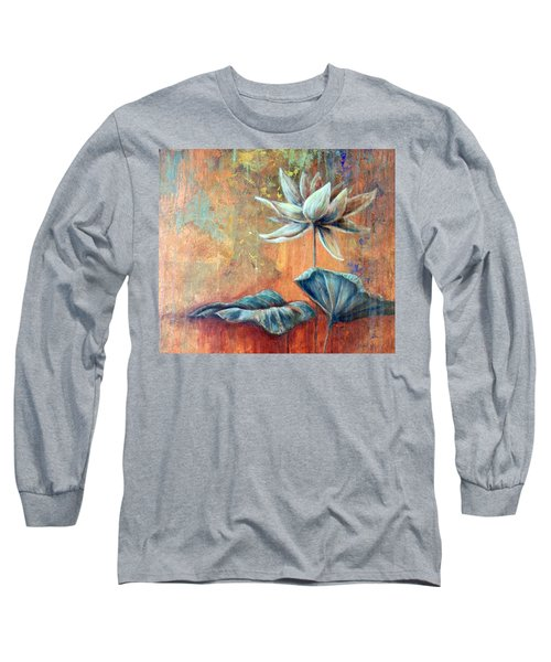 Copper Lotus Long Sleeve T-Shirt