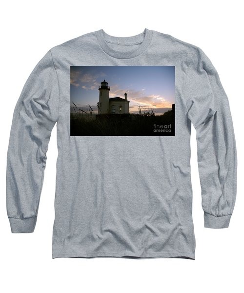Coquille River Lighthouse At Sunset Long Sleeve T-Shirt