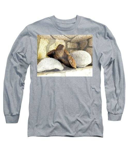 Long Sleeve T-Shirt featuring the photograph Coral And Turtle Decor by Francesca Mackenney
