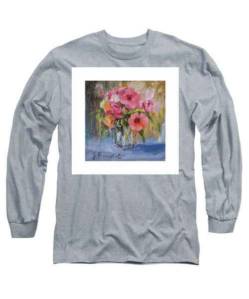 Coral Bouquet Long Sleeve T-Shirt by Jennifer Beaudet