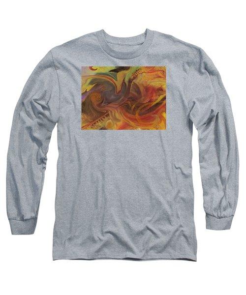 Long Sleeve T-Shirt featuring the digital art Coral Sea by David Klaboe