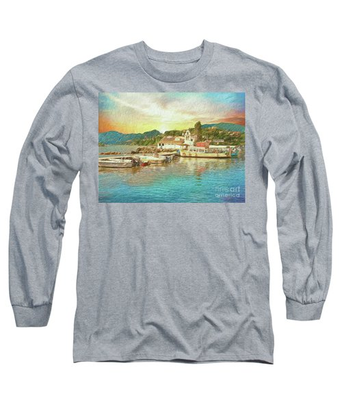 Long Sleeve T-Shirt featuring the photograph Corfu 30 My Passion Paintography by Leigh Kemp